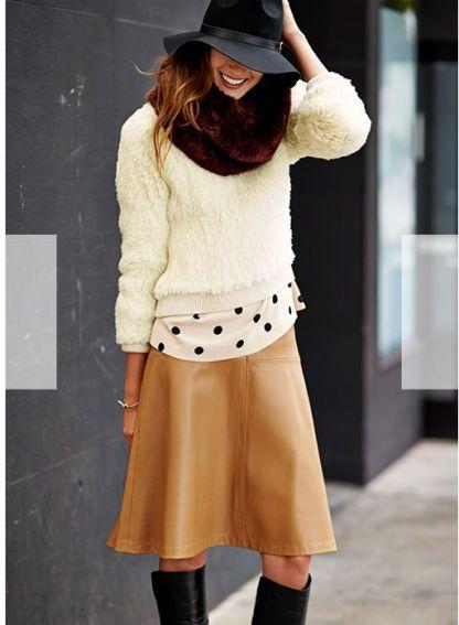 camel skirt